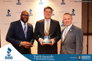 Aftermath receives BBB 2017 Torch Award for Marketplace Ethics.
