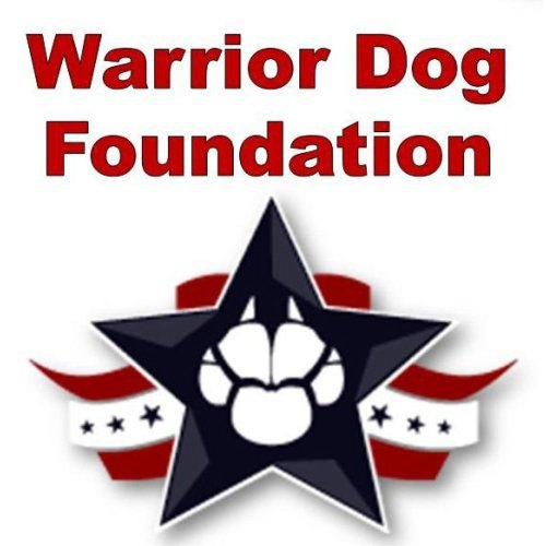 Warrior Dog Foundation logo in red, white and blue.
